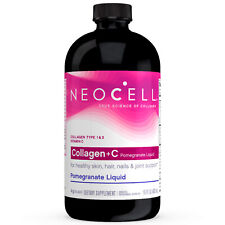 NeoCell Collagen+C pomegranate Liquid (16oz) hair skin nail joint bone care