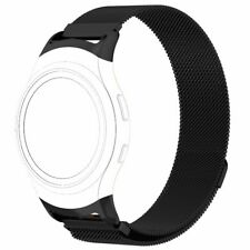 Adjustable Stainless Steel Replacement Strap Black Bands for Samsung Gear S2