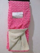 "Rosette Rose Faux Fur Pink Throw Blanket Sherpa Lined 50"" x 60"" NEW"