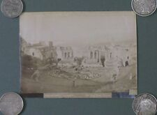 """Taormina. """"Teatro Greco"""", veduta generale. Foto fine '800 di Giovanni Crupi."""