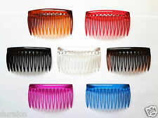 Plain Hair Combs Clear Slides Side Combs Plastic Sidecomb Pkt9 Hair Comb Quality