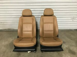 08 09 10 BMW E60 528I 535i 550i FRONT 20-WAY COMFORT HEATED SEATS BROWN LEATHER