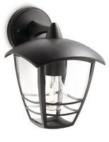 Black Creek Outside Wall Light Curved Top Lantern Hangs Down - Philips MyGarden