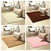 Fluffy Rugs Anti-Skid Shaggy Area Rug Carpet Dining Room Home Bedroom Floor Mats
