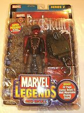 2003 MARVEL LEGENDS RED SKULL SERIES V W/ DISPLAY STAND & COMIC BOOK  BY TOYBIZ