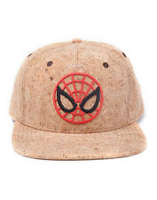 OFFICIAL MARVEL COMICS THE AMAZING SPIDER-MAN ROUND MASK CORK SNAPBACK CAP (NEW)