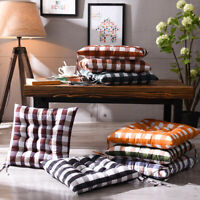 FP- Indoor Outdoor Dining Garden Patio Soft Chair Seat Pad Plaid Cushion Home De
