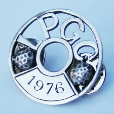 More details for sterling silver ( l p g c ) fully uk hallmarked golf club 1976 rare badge - look