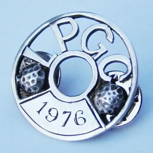 Sterling Silver ( L P G C ) Fully UK Hallmarked Golf Club 1976 Rare Badge - Look