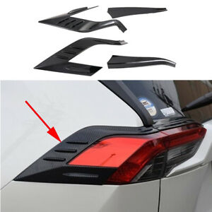 For RAV4 2019 2020 Carbon Fiber Tail Light Lamp Taillight Cover Trim Accessories