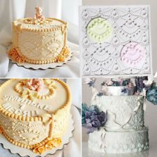 Pearl Bead Silicone Fondant Cake Mold Border Decor Baking Lace Embossed Mould