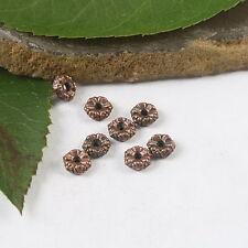 110pcs antiqued copper color flower design spacer beads h1830