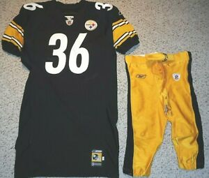 PITTSBURGH STEELERS JEROME BETTIS 2001 GAME JERSEY 2001 GAME PANTS TEAM ISSUE