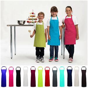 Premium Children Bib Apron Kids Boys Girls Apron Kitchen Child Craft Cooks Apron