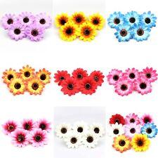 50-100Pc Sunflower Artificial Silk Flower Heads DIY Bud Party Wedding Home Decor