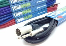 "Neutrik Male XLR to Mono Jack 1/4"" 6.3mm Jack Plug Lead Patch Cable *ANY LENGTH*"