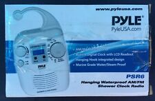 Pyle Home Psr6 Waterproof Shower Clock Digital Radio Manual Am/Fm Tuner