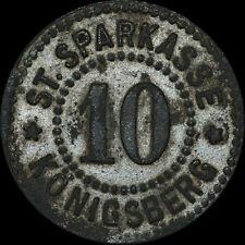 NOTGELD: 10 Pfennig. Funck 249.1. STADT KÖNIGSBERG IN FRANKEN / BAYERN.