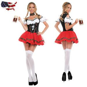 Ladies Beer Maid Wench Costume Oktoberfest Gretchen Fancy Dress