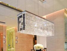 "L32"" Modern Crystal Pendant Light Lamp Chandelier Dining Room Lighting Fixture"