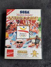 Jeu Sega Master System Olympic Gold Très Bon état, Complet