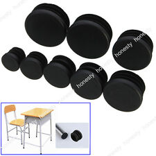 10PCS Black Plastic Blanking End Caps Cap Insert Plugs Bung For Round Pipe Tube