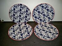 4 PIERS BLUE BY BETTER HOMES AND GARDENS  SALAD PLATES  8 5/8''