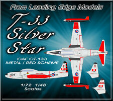 1/72 T-33 Canada red / metal scheme decal set by Leading Edge Models