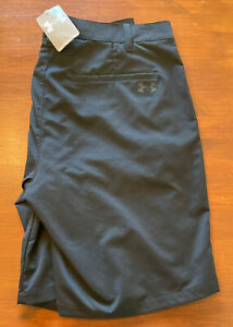 """Mens Black Under Armour Stretch Fit Golf Shorts, Size 34"""" Brand New"""