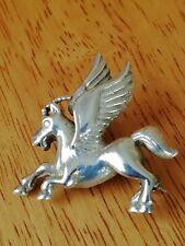 Solid Silver unique Pegasus Brooch. Stamped 925.