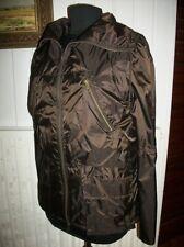 Veste manteau  parka zip polyamide marron imperméable COMPTOIR DES COTONNIERS 40