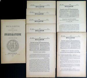 LI0045 - LOT DE 7 BULLETINS DE LA SOCIETE SUISSE DE NUMISMATIQUE - 1883-1884