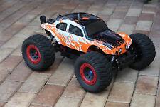 Custom Bug Body Muddy Orange/WB Shell for 1/8 RC Baja Thunder Tiger HPI Traxxas