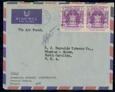 Mayfairstamps Burma 1950 American Embassy RJ Reynolds Tobacco Cover wwf_48915