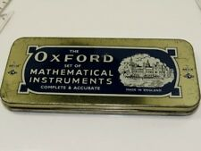 VINTAGE HELIX ENGLAND TIN  Oxford Set of Mathematical Instruments Some Contents