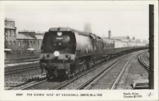 RP Railway Postcard SR MN 35013 Blue Funnel Vauxhall 1952 ACE Loco Pamlin