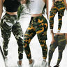 Women's Army Casual Camo Cargo Trousers Pant Combat Camouflage Print Military