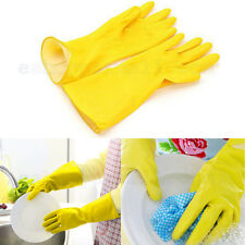 Lot of 4 Packs Dish Washing Latex Gloves S M L Xl Size Yellow Pairs Packages