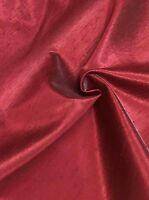 BEAUTIFUL RED POLYESTER SILK FABRIC 10 METRES..