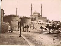 Zangaki, Egypte, Le Caire, Porte de la Citadelle  Vintage albumen print,