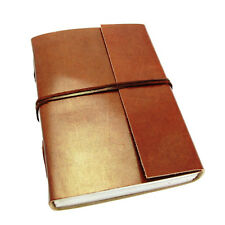 Fair Trade Handmade Eco Large Plain Leather Journal Notebook Diary 2nd Quality