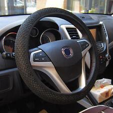 Car Auto 36/38cm Universal Steering Wheel Cover leather Elastic Handmade UK