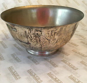 Tiffany & Co sterling silver footed Paul Revere Bowl, # 23617, 524 Grams, 7.75""