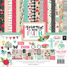 Echo Park - Forward With Faith 12x12 Scrapbook Kit Papers + Stickers