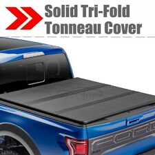 Solid Hard Tri-Fold Tonneau Cover for 2015-2019 Ford F-150 5.5FT Short Bed Cover