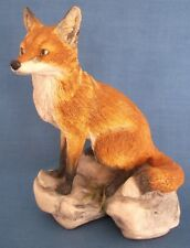 EARLY BORDER FINE ARTS FOX FIGURINE SIGNED JUDY BOYT 1981 WOODLAND SERIES RARE
