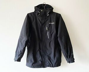 Black Columbia Titanium Omni Tech Jacket Skiing Insulated Winter Parka Small