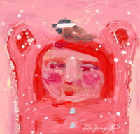 Cute Bird and Bear Painting Katie Jeanne Wood