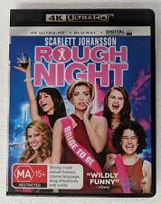 ROUGH NIGHT - 4K ULTRA HD + Blu-ray ALL Region oz seller DVD Scarlett Johansson