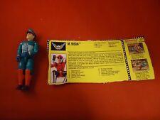 M. Bison Street Fighter II Hasbro GI Joe Toy Action Figure w/ Cutout Info Card!